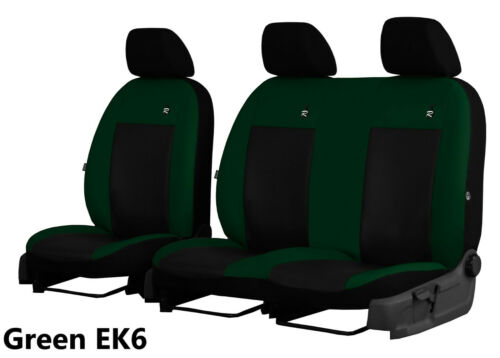 RENAULT TRAFIC 2+1 2001-2014 ARTIFICIAL LEATHER TAILORED FRONT SEAT COVERS
