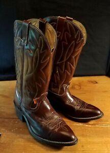 Vtg 70s Orange Tag LEVIS Cowboy boots. 10