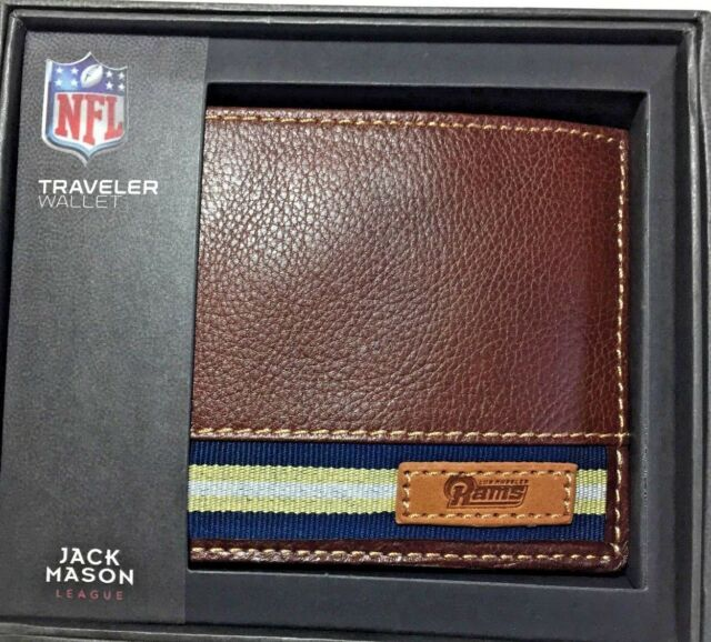 Discount Los Angeles Rams Leather Mens Wallet Jack Mason NFL Licensed  for sale