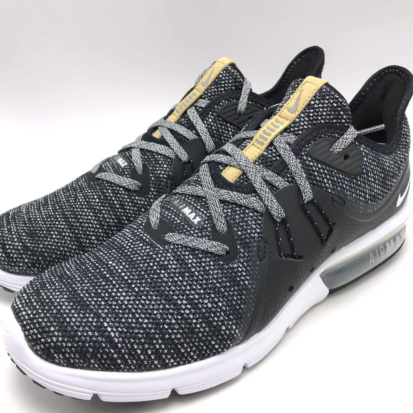 Nike Air Max Sequent 3 Men's Running shoes Black White-Dark Grey 921694-011