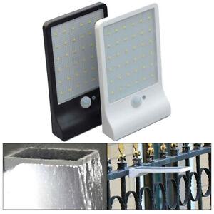 48LED-Luce-Giardino-Lampada-Energia-solare-Sensore-di-movimento-PIR-Luce-a-muro