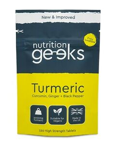 Turmeric Tablets 3200mg + Ginger + Black Pepper | 120 Tablets (Not Capsules), UK