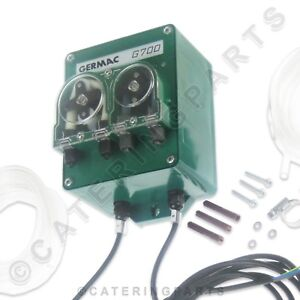 GERMAC-G700-TWIN-DETERGENT-amp-RINSE-AID-EXTERNAL-DOSING-PUMP-COMPLETE-KIT-amp-TUBES