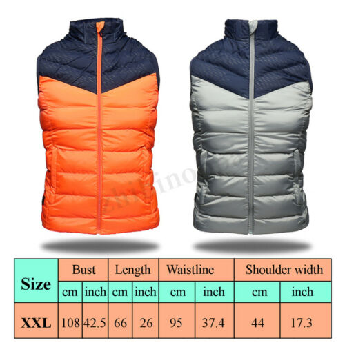 USB Men's Heating Vest Winter WarmUp Jacket Battery Heated Coat Adjustable Rapid