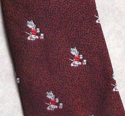 Capace Vintage Cravatta Da Uomo Cravatta Crested Club Associazione Società Borgogna-mostra Il Titolo Originale