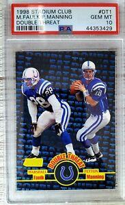 1998 Stadium Club. Peyton Manning/Marshall Faulk. PSA 10. RC (POP 103) HOC85🔥