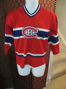 Image is loading Vintage-Maska-CCM-Montreal-Canadiens-Hockey-jersey-Youth- fe18fbbdcff