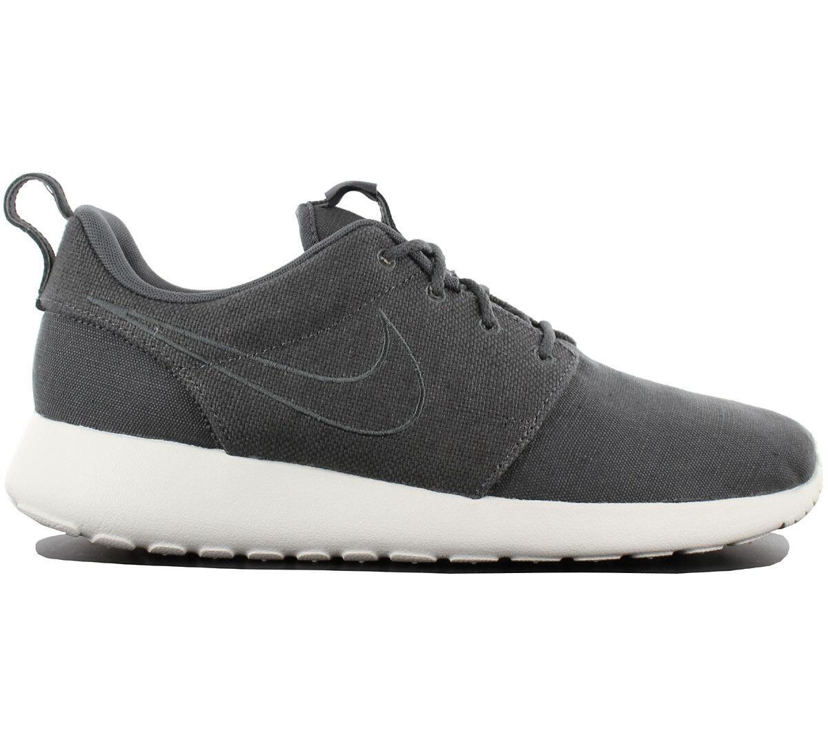 Nike Roshe One Premium Herren Turnschuhe Schuhe Textil Grau Run Two 525234-012 NEU