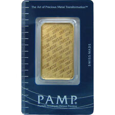 ON SALE! 1 oz PAMP Suisse Gold Bar (PAMP Design, New w/ Assay)