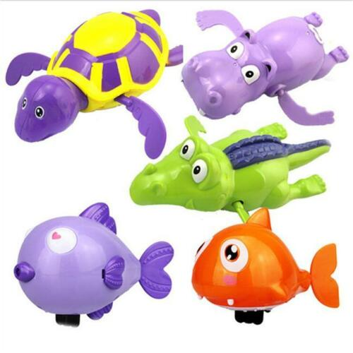 Colorful Baby Kids Bath Toy Turtle Model Clockwork Fun Wind-up Swimming Toy CS