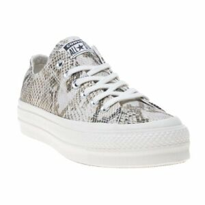 Details about New Womens Converse Natural Multi All Star Lift Ox Canvas Trainers Lace Up