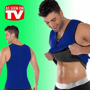 Sauna Men Shapewear Corset Sweat Vest Slimming Zipper Waist Trainer
