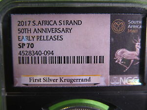 2017-SOUTH-AFRICAN-1-oz-SILVER-KRUGGERAND-SP70-BY-NGC-COA-AND-POUCH