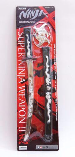 NUOVO RAGAZZO NINJA Play Set Rubies giocattolo SAMURAI SPADA Assassino Costume Accessorio