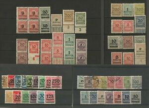 Germany (Weimar Republic) 1922-1923 Collections Inflation Mint & Used Variations