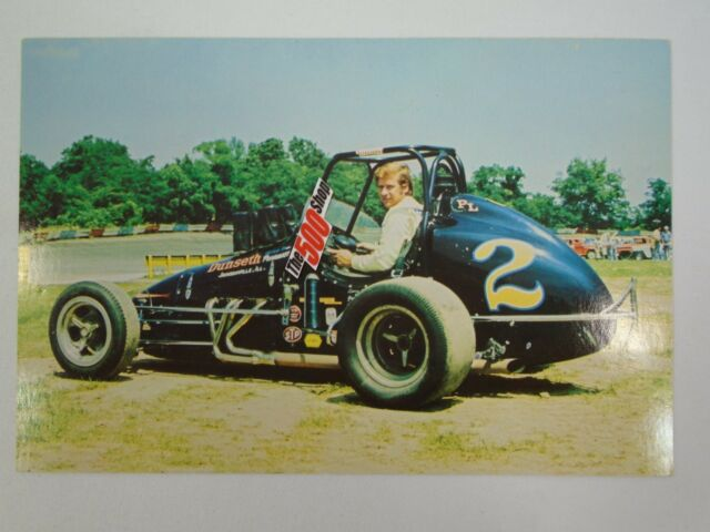 Larry Dickson 2 Time USAC Sprint Car Champion Postcard Out of Print #2 Dunseth