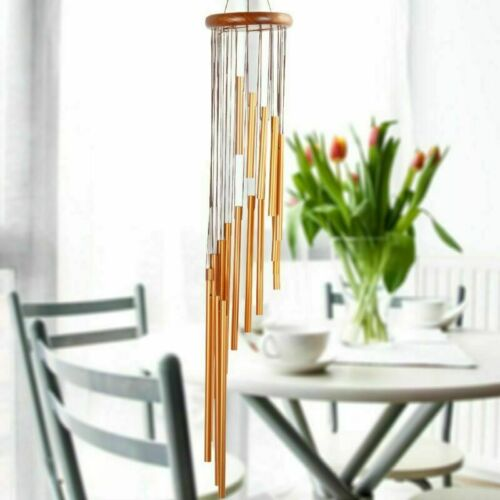 18 Tubes Large Wind Chime Metal Hanging Ornament Garden Yard Outdoor Home Decor