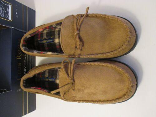 NEW Men/'s CLUB ROOM INDOOR OUTDOOR MEMORY FOAM Brown Sherpa Slippers~M-L-XL-XXL