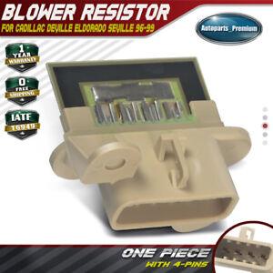 1995 cadillac sedan deville blower motor resistor location