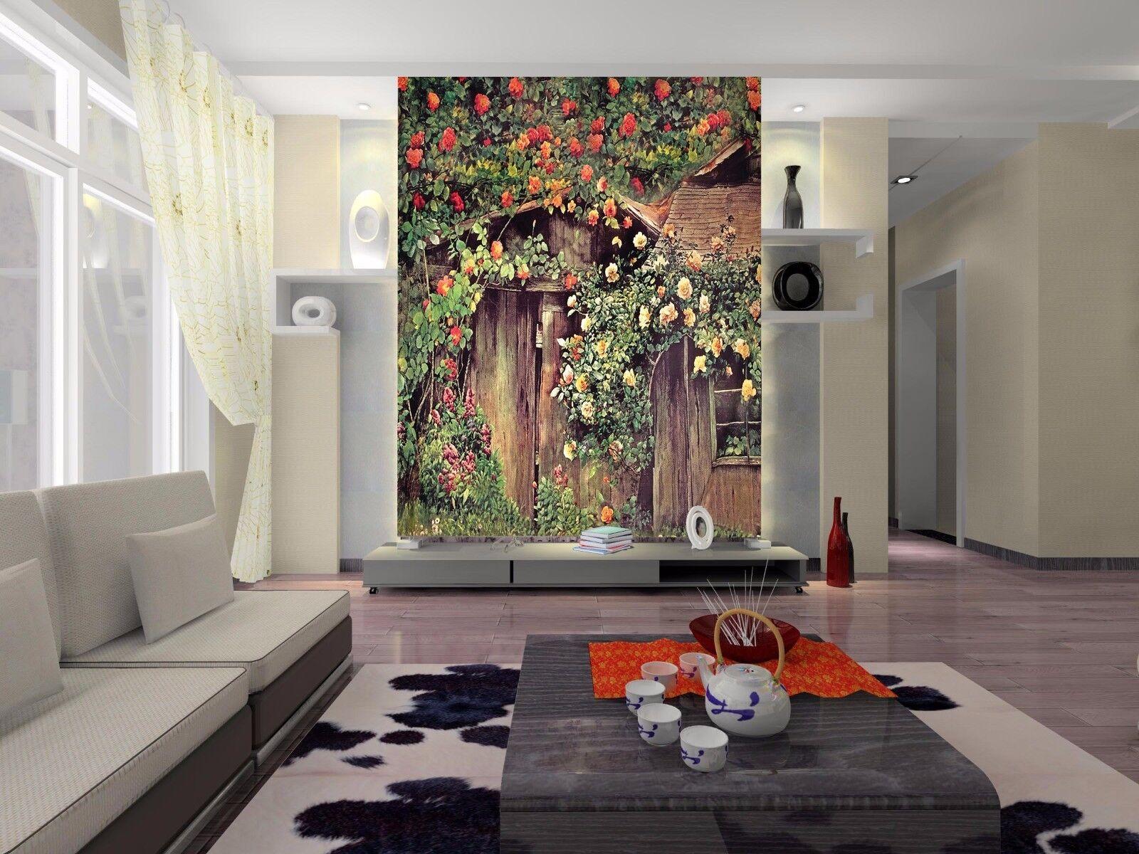 3D Chalet Rosan Rebe 88 Tapete Wandgemälde Tapete Tapeten Bild Familie DE Summer | Optimaler Preis  | Beliebte Empfehlung  | Lebhaft und liebenswert