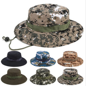 b0441ef43df Boonie Hat Wide Brim Military Camo Hunting Camping Bucket Cap Rothco ...