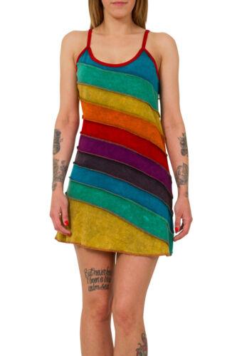 Rainbow Robe Sangle Délavé Summer Hippie Boho Nepal Festival Vintage TOP