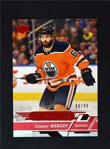 2018-19-UD-Upper-Deck-Overtime-Wave-3-Red-Rookies-176-Cooper-Marody-99-RC