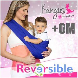 Kangus - Reversible Baby Sling, Baby Carrier, Ring, Fular, Canguro, Portabebe.