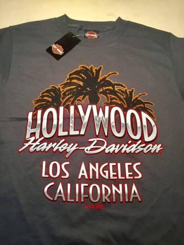 CA Small Charcoal T-shirt S HOLLYWOOD HARLEY DAVIDSON MOTORCYCLES Los Angeles