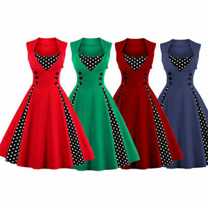 HEPBURN-50er-ans-robe-de-bal-retro-vintage-Jupon-Rockabilly-36-46-bc386-NEUF