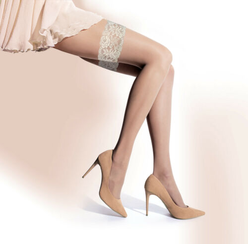 Luxury Skin Pearl Wedding Lace Natural Sensual Hosiery Lady Stockings Size T173