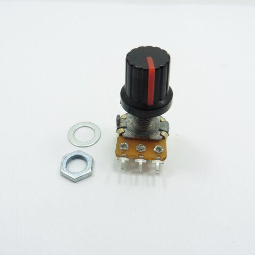 Potenciómetro lineal B Mono /& 15mm Perilla de plástico tapa de olla de Control de Volumen de tono de Ohm