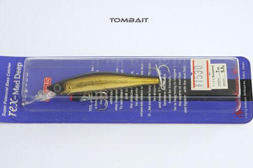 SAURUS REX MED DEEP SUSPEND 7cm GOLD JAPAN WOBBLER LURE ZANDER BASS CRANKBAIT
