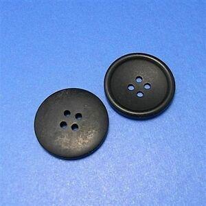 15-Large-Vintage-Lot-Coat-Big-Jacket-Sewing-Buttons-28mm-44L-Matte-Black-L177