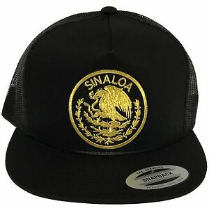 88a20c011f0be Image is loading SINALOA-LOGO-FEDERAL-MEXICO-HAT-MESH-TRUCKER-BLACK-