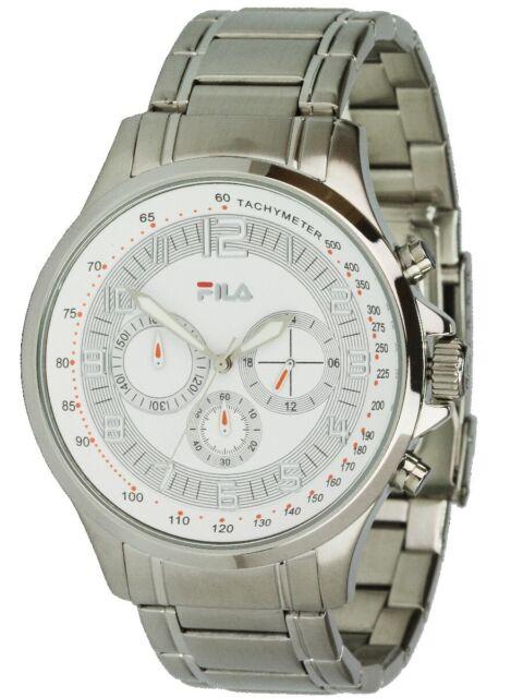 Fila Orologio al Quarzo Cronografo Fa4113-17 Cronometro Cinturino in acciaio
