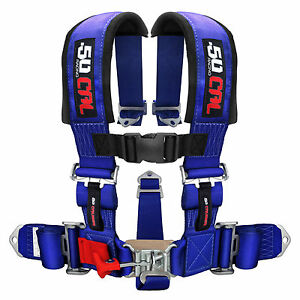 Blue Safety Harness Seat Belt 5 Point Style Sports Car Street Racing