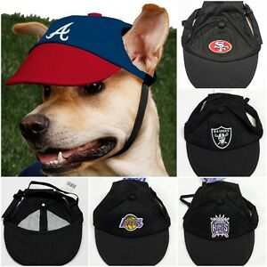 Details about Pet Cap hat for dogs Official NBA NFL 49ers Raiders Lakers  Kings K9 Sports