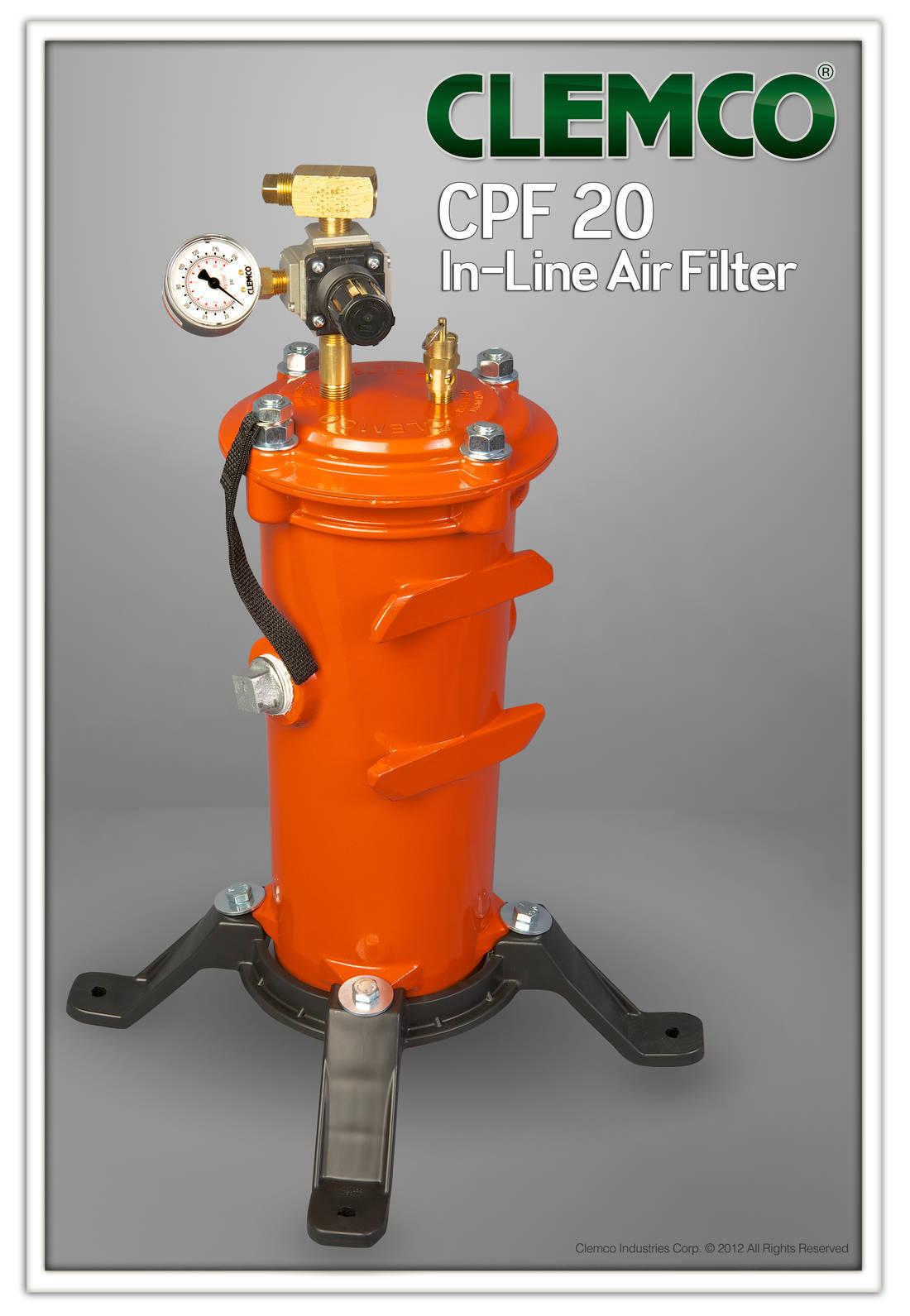 Air Filter Clemco CPF 20 w  pressure regulator, 2 Operators,OSHA Cert.  03578