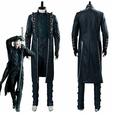 Devil May Cry V DMC5 Trish Outfit Cosplay Costume Dress Uniform Suit Corset Pant