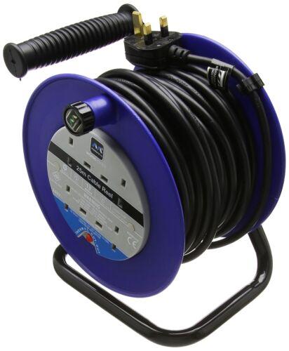 Masterplug LDCC 2513//4BL câbles ouvert Reel avec Thermique Découpe et bouton reset...