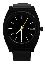 Nixon A119000 Time Teller P Black Dial Silicone Rubber Band Unisex Watch New