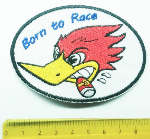 Un écusson Aufbügler Racing Canard Rubberduck Duck Clay SMITH MR HORSEPOWER 2 varian