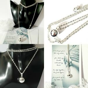 26cba5305 Image is loading Harmony-Bola-ball-Angel-chime-necklace-Pendant-40in-