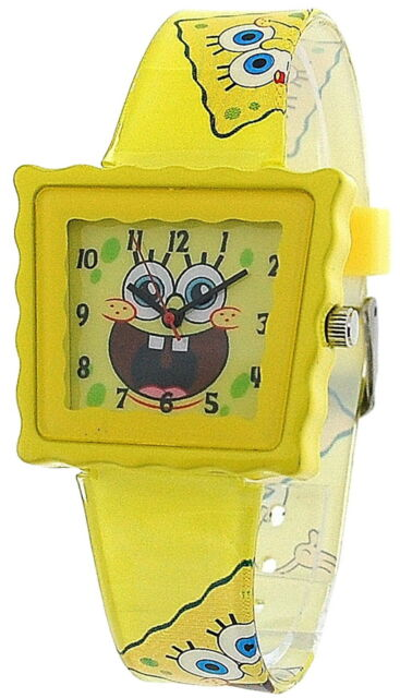 nickelodeon spongebob squarepants yellow childrens casual strap