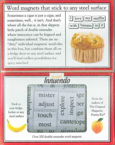 Magnetic Poetry SEXUAL INNUENDO Fridge Magnetic Words Naughty Dirty Message Game