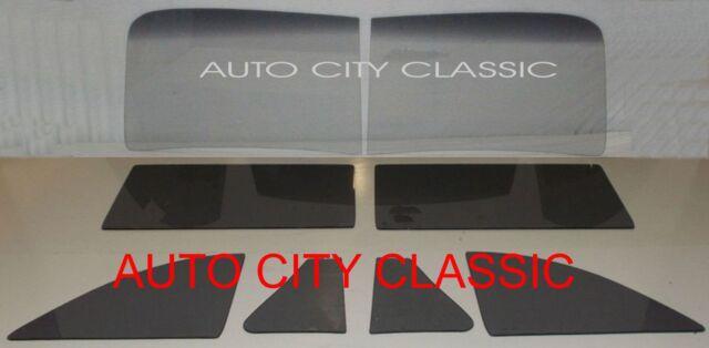 1941 - 1948 Chev Coupe Glass Windshield 2 Piece Vent Door Quarter Set Grey