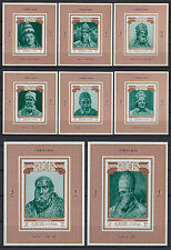 Ajman 1971 ** Mi.1001/08 Luxusblocks Weihnachten christmas Päpste popes Papst