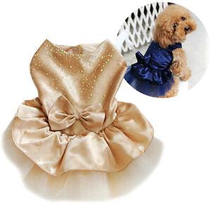 Pet-Dog-Puppy-Bow-Gauze-Tutu-Dress-Skirts-Cat-Sequin-Princess-Clothes-Apparel