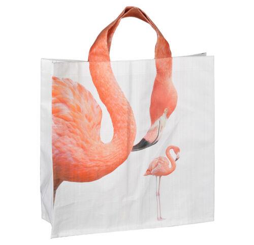 Einkaufstasche Flamingo Tragetasche Pink Shopper 40x40cm